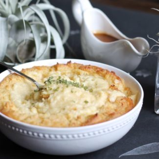 Roasted Garlic, Parmesan, Brown Butter Mashed Potatoes