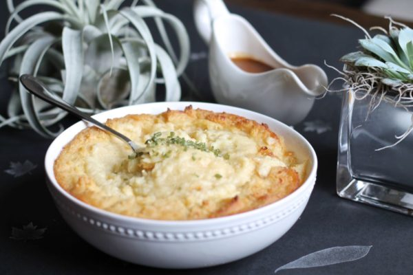 Roasted Garlic Brown Butter and Parmesan Mashed Potatoes