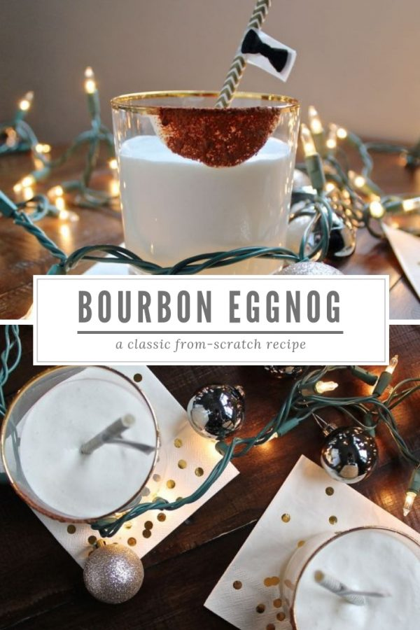 Bourbon Eggnog is the ultimate holiday season treat. It's so rich and creamy, and it also has a little kick of booze.