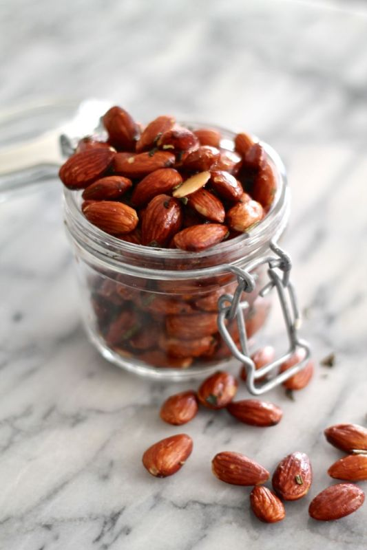 Brown Butter, Sage, and Rosemary Roasted Almonds - via The Kittchen
