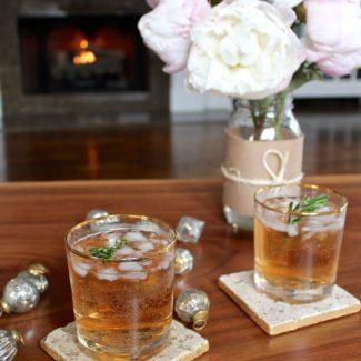 Sparkling Cranberry Ginger Cocktail