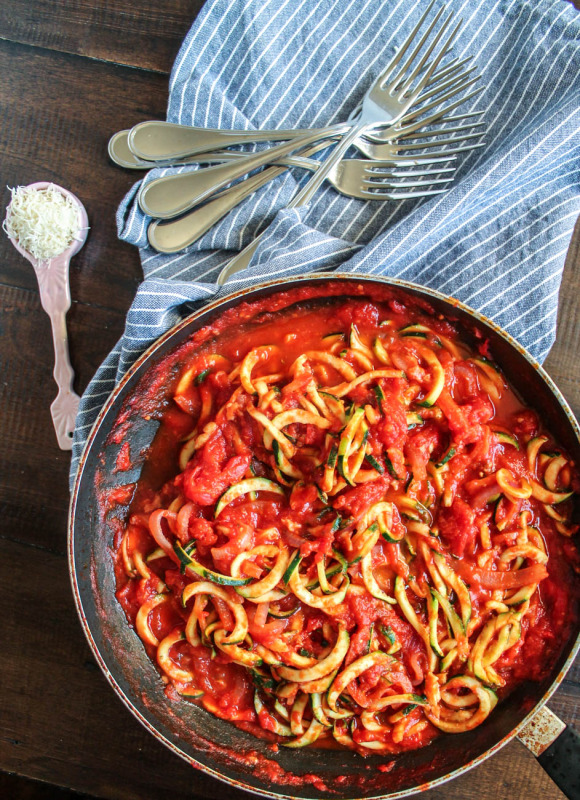 Zoodles (Zucchini Pasta) via The Kittchen-9