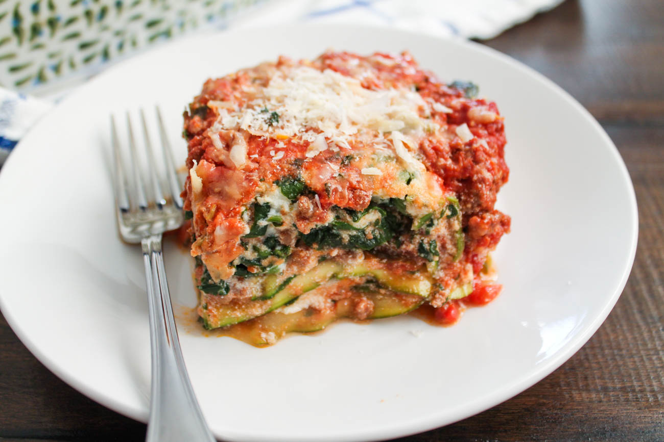 Zucchini Lasagna with Bolognese Sauce - thekittchen