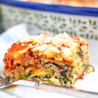 How to Make Zucchini Lasagna - A bold meaty zucchini lasagna made with thin slices of zucchini instead of pasta. It's a lower carb version of a classic!