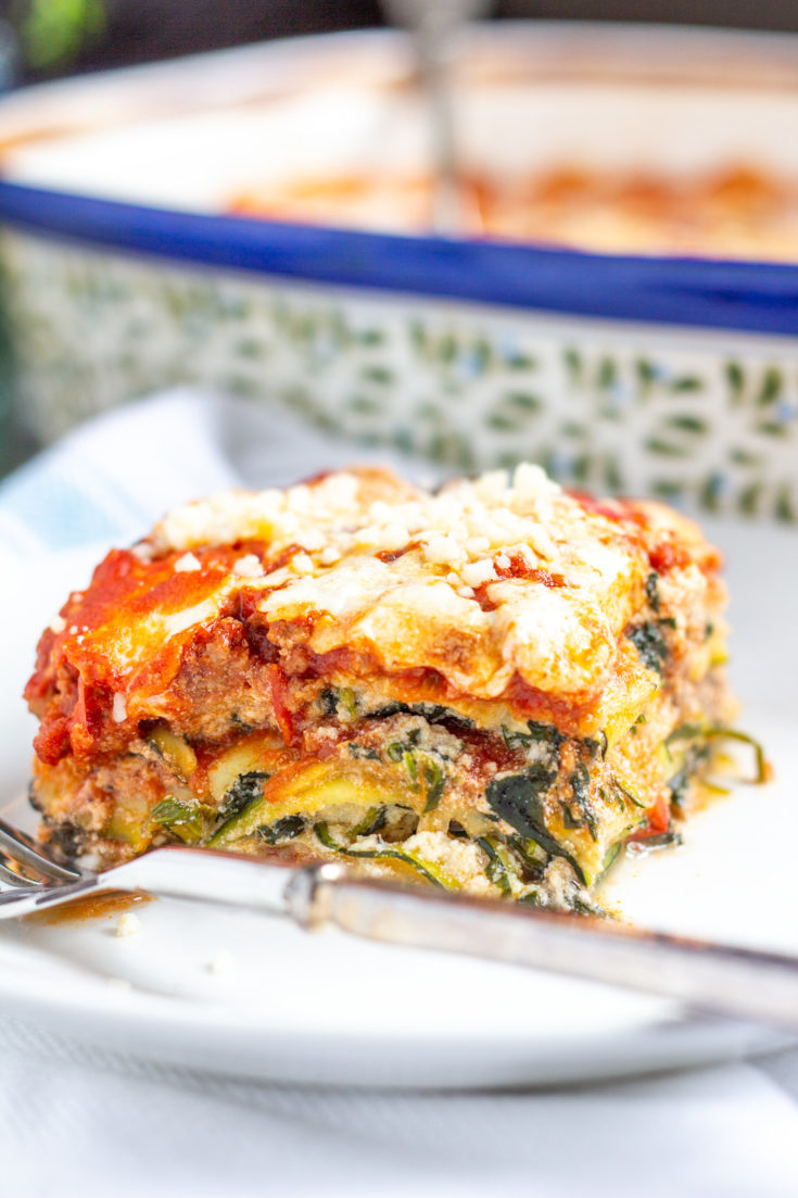 Zucchini Lasagna with Bolognese Sauce