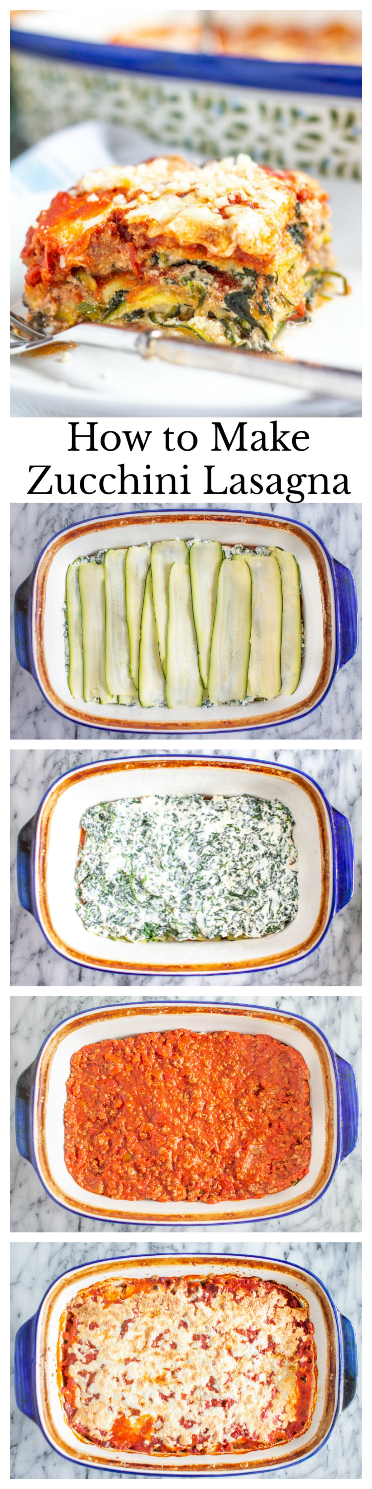 How to Make Zucchini Lasagna - an easy meaty low-carb lasagna recipe.