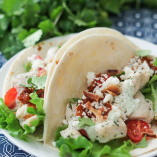 Ranch Chicken Tacos with Avocado Crema