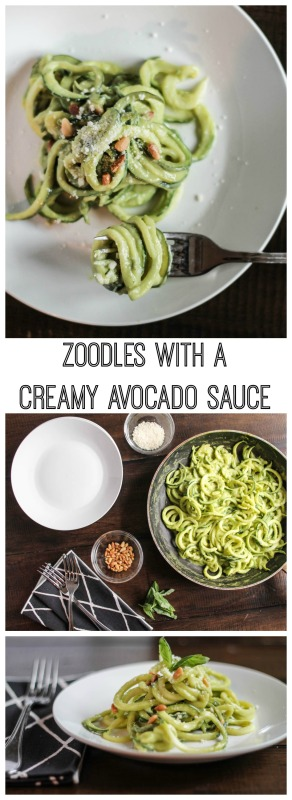 Zucchini Noodles with a Creamy Avocado Sauce
