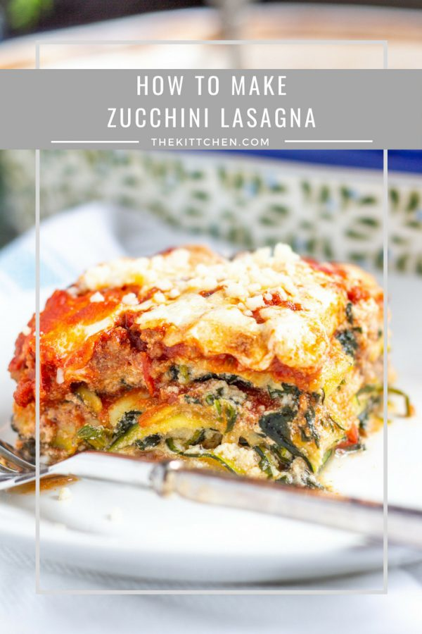 How to make Zucchini Lasagna | A bold meaty zucchini lasagna made with thin slices of zucchini instead of pasta. It's a lower carb version of a classic! #zucchini #lasagna