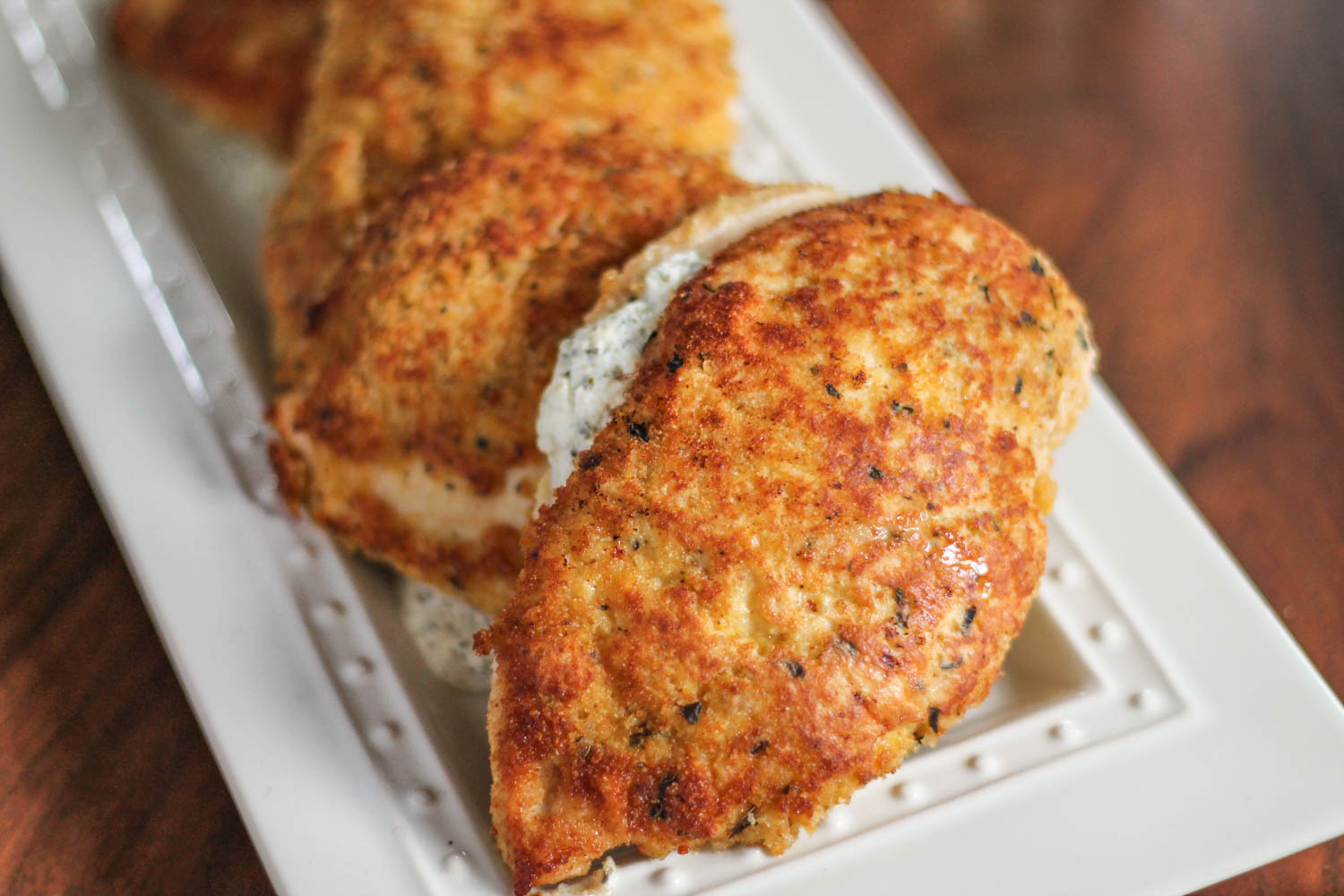 Cheese Stuffed Chicken Milanese Thekittchen