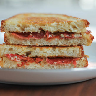 Crispy Prosciutto Grilled Cheese
