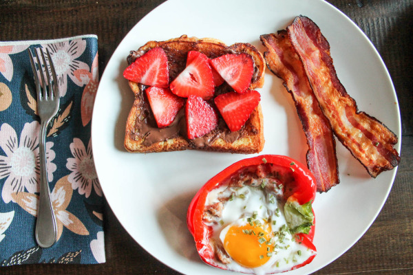 Strawberry Nutella French Toast-6