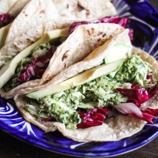Chicken Tacos with Cilantro Pesto