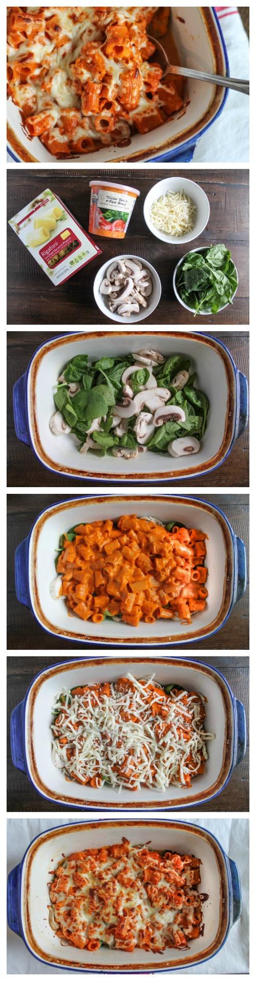 Veggie Pasta Bake Collage