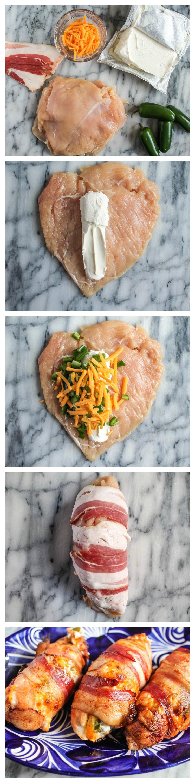 Bacon Wrapped Buffalo Chicken Jalapeno Poppers Recipe ...