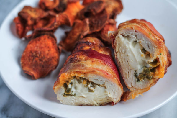 Bacon Wrapped Jalapeno Popper Stuffed Chicken Recipe ...