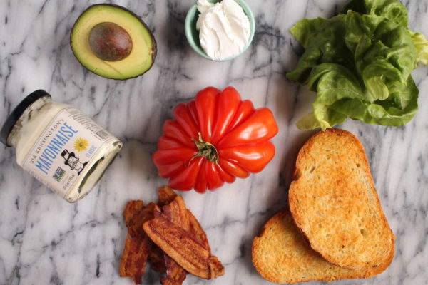 Garlic Avocado and Goat Cheese BLT