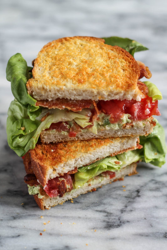 Garlic Avocado and Goat Cheese BLT-7