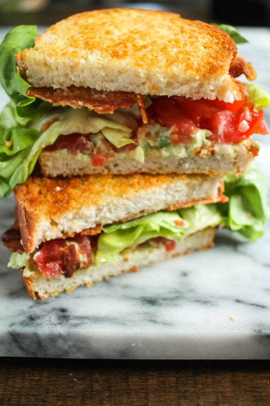 Garlic Avocado and Goat Cheese BLT-8
