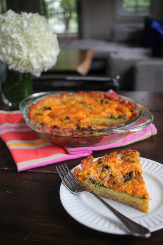 Spinach and Cheddar Tater Tot Quiche8