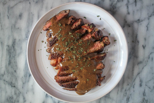Steak with Bourbon Cream Sauce-3