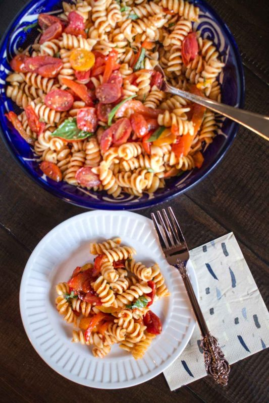 Roasted Tomato Pasta Salad-4