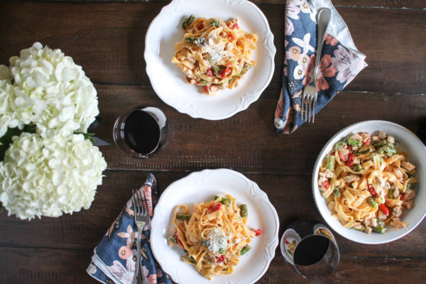 Roasted Vegetable and Chicken Pasta-6