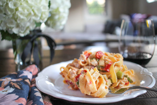 Roasted Vegetable and Chicken Pasta-8