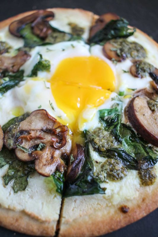 Breakfast Pita-Pizza Recipe — Dishmaps