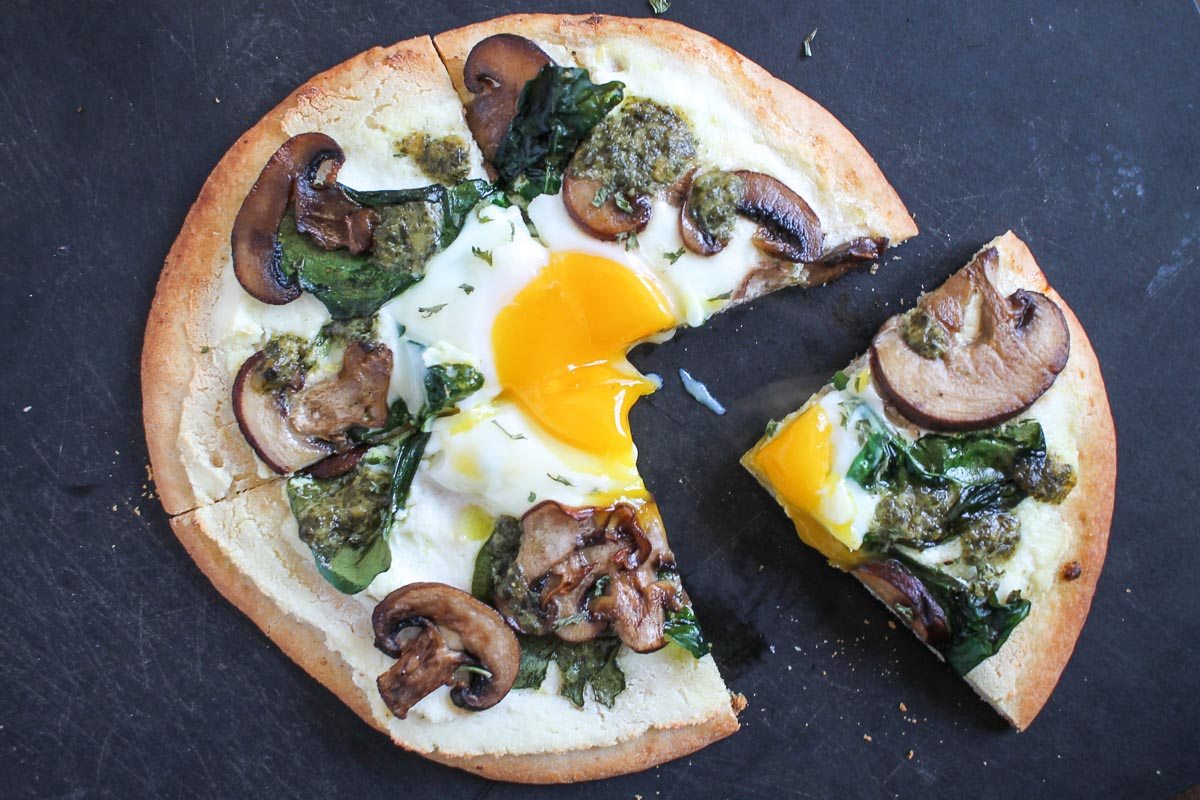 Breakfast Pita Pizza - thekittchen