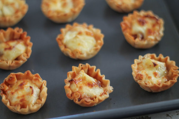 Honey, Fig, and Brie Phyllo Cups and Helping Honey Bees - thekittchen
