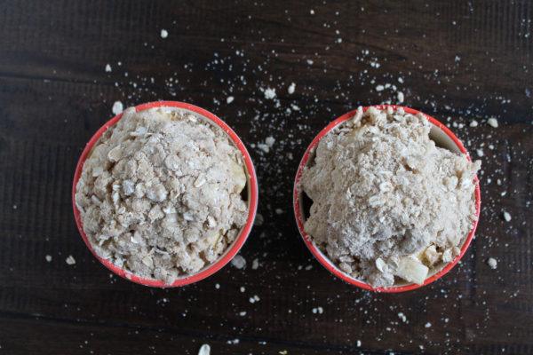 Apple Crumble ready to bake