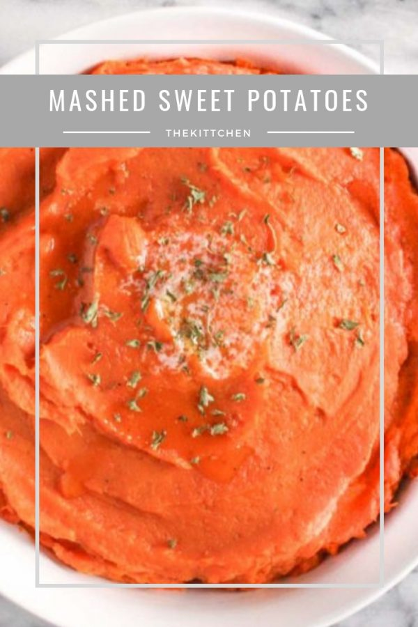 Mashed Sweet Potatoes | Perfectly light and fluffy mashed sweet potatoes with just enough natural sweetness. This belongs on your #thanksgiving menu.