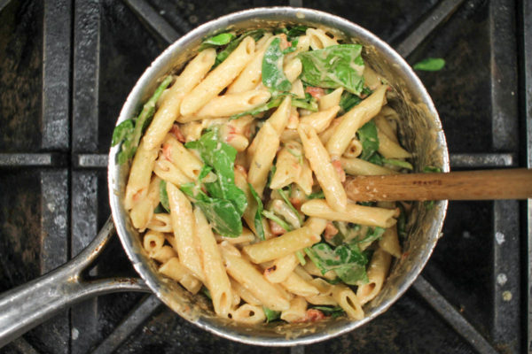 easy-goat-cheese-and-vegetable-pasta-4