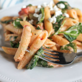 easy-goat-cheese-and-vegetable-pasta-9