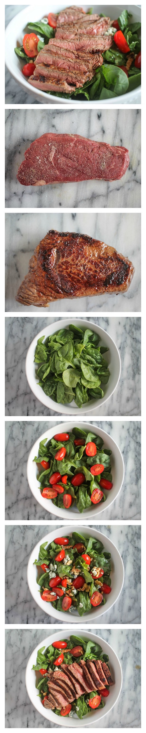 Sirloin Steak Salad Collage