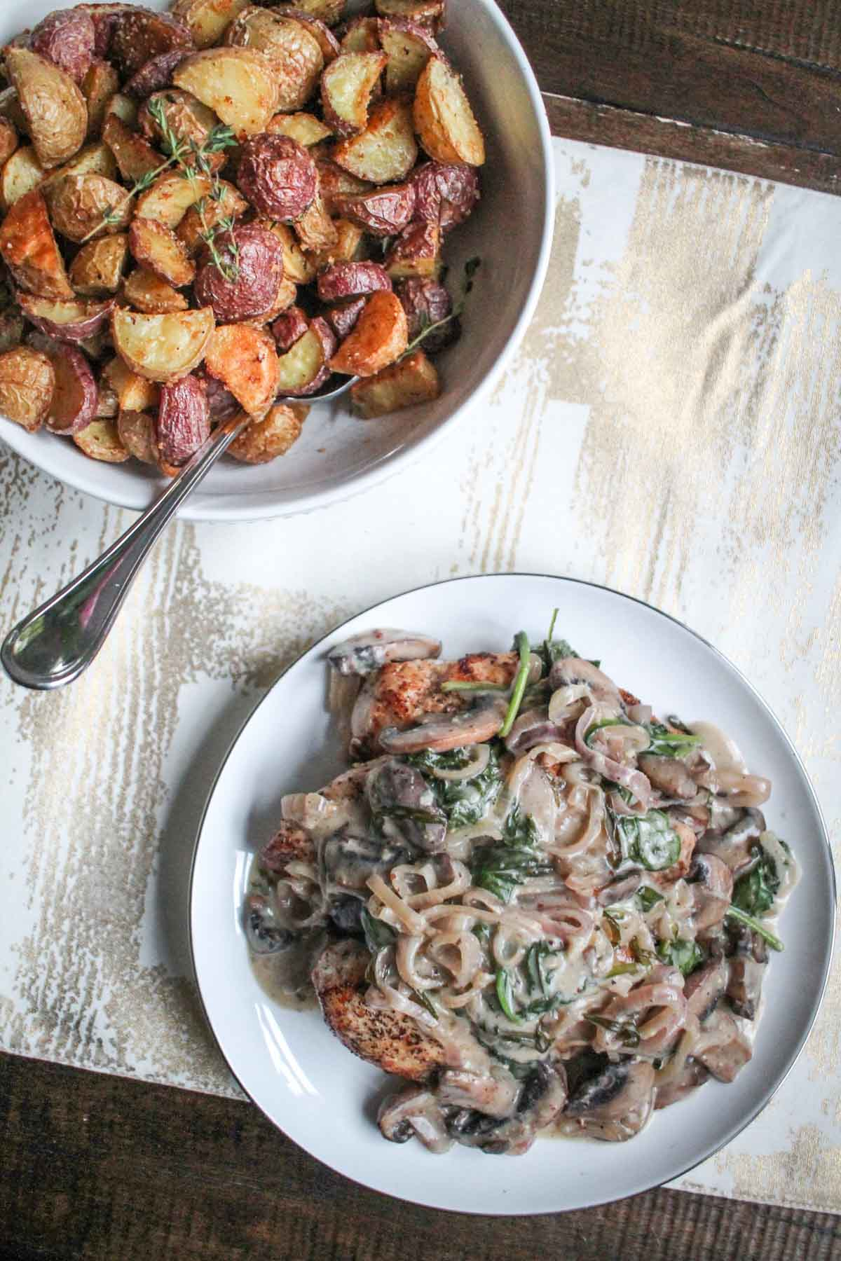 creamy-mushroom-and-shallot-chicken