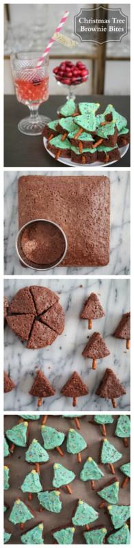 how-to-make-christmas-tree-brownie-bites