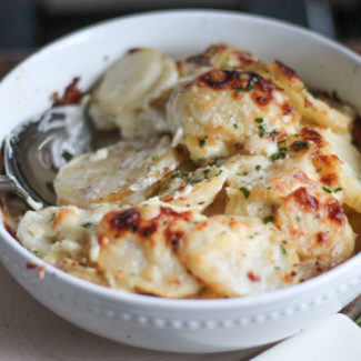 Garlic Parmesan Scalloped Potatoes