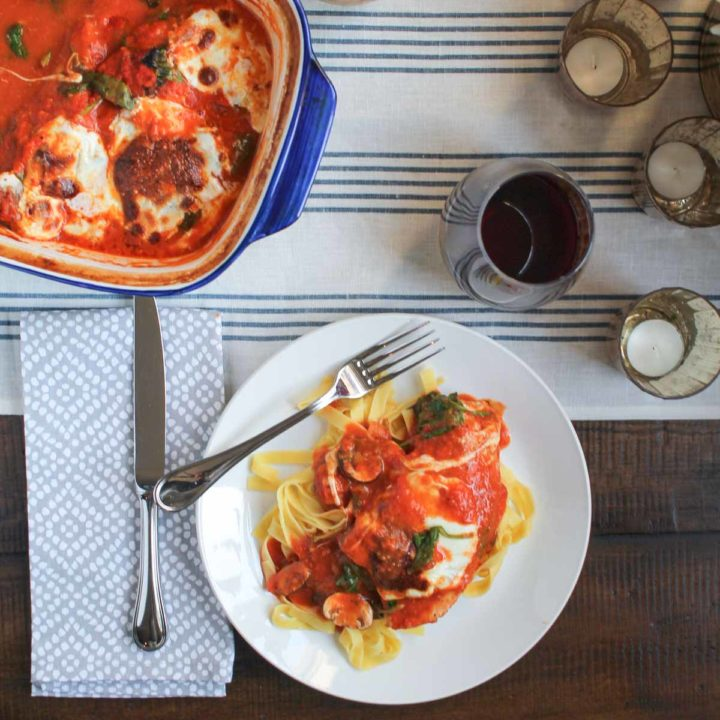 Easy Italian Chicken and Veggie Bake