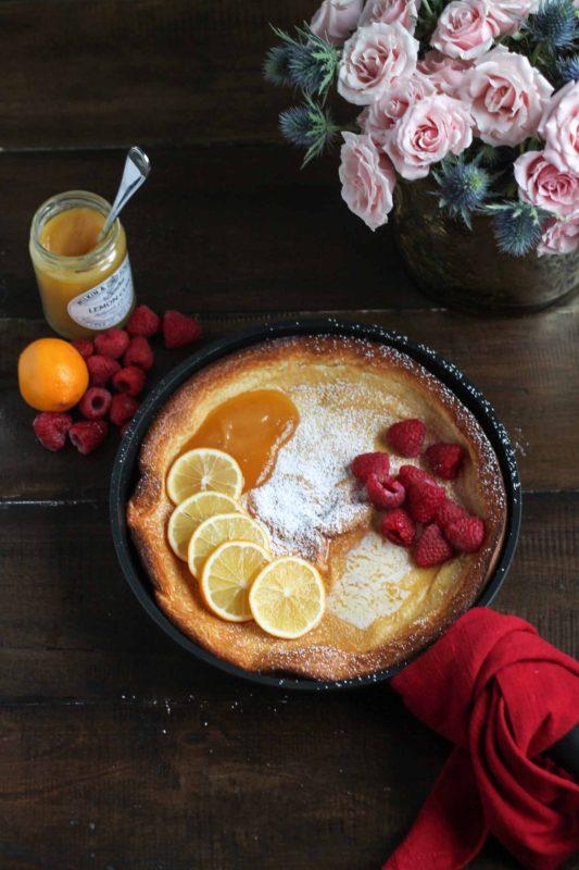 Lemon Raspberry Dutch Baby-4
