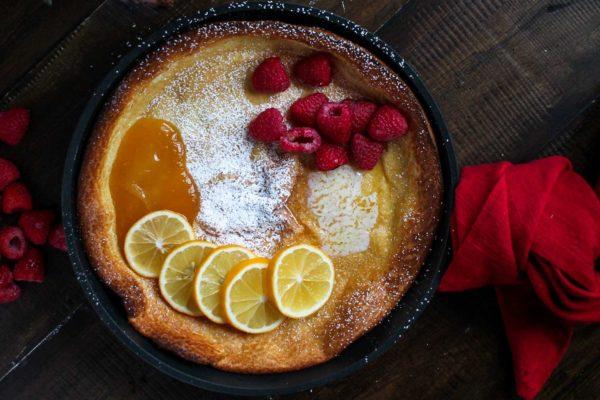 Lemon Raspberry Dutch Baby-5