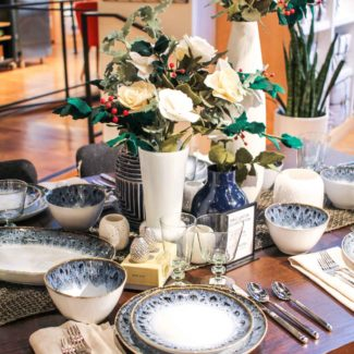 Winter Tablescape with West Elm and Fiber Florist