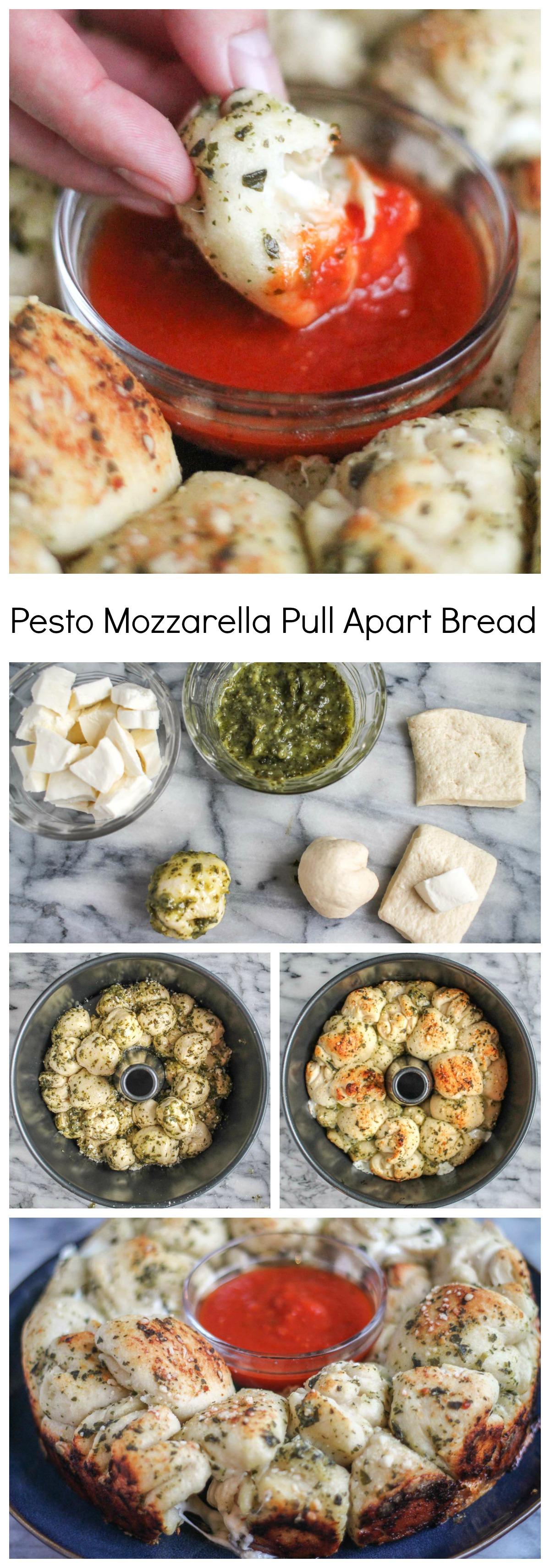 Pesto Pizza Pull Apart Bread Thekittchen