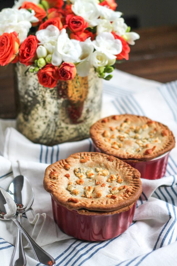 Steak and Guinness Pies with a Blue Cheese Crust - thekittchen