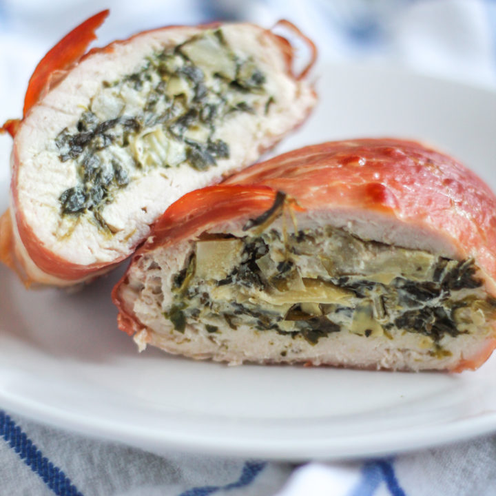 Spinach Artichoke Dip Stuffed Chicken