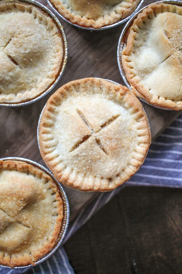 These mini apple pies are so fun to serve at a party!