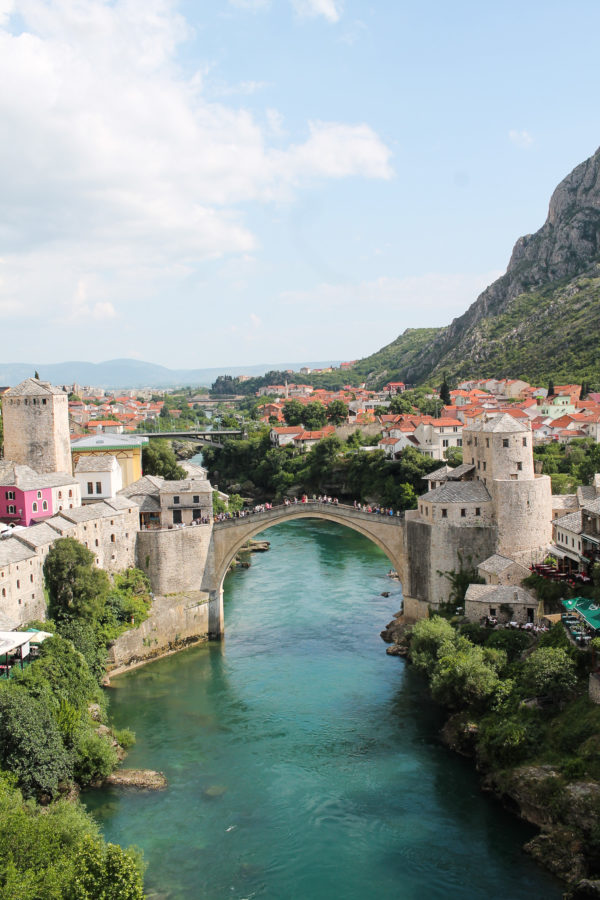 Mostar is a small historic city and UNESCO World Heritage site conveniently located between Sarajevo and Dubrovnik. The old town of the city is so beautiful that it looks like it was lifted from a fairy tale and brought to life.