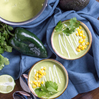 Avocado Poblano Soup