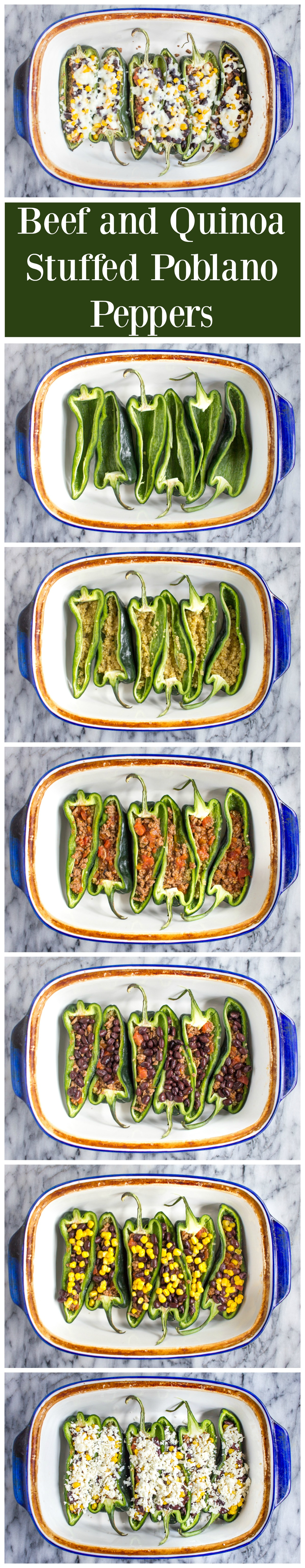 Beef Stuffed Poblano Peppers - a quick and easy recipe your family will love!